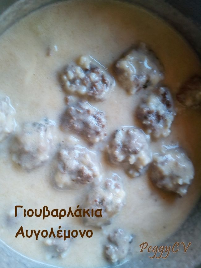 "Peggy's ""Giouvarlakia avgolemono"", almost ready to serve!"
