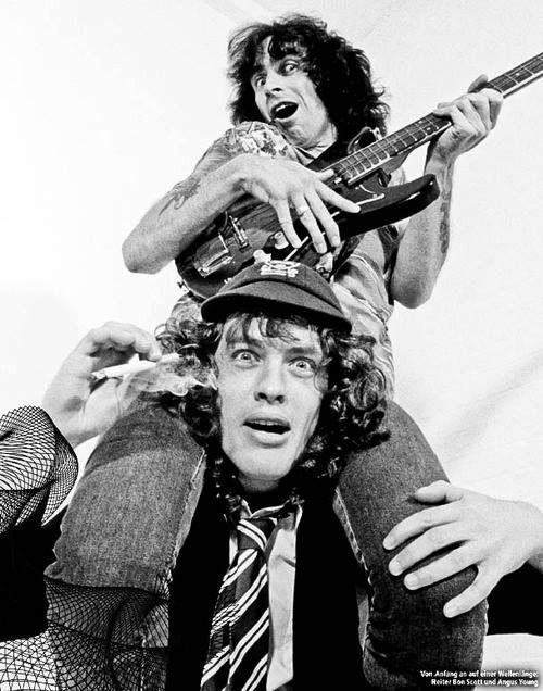 Bon Scott & Angus Young