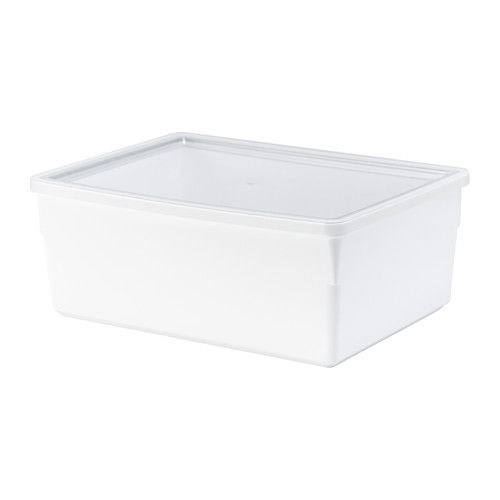 24€ = 3 X 7,99€ - 31x23x12 cm-  IKEA - TILLSLUTA, Bote c/tapa, Estos tarros te ayudan a tener la comida perfectamente organizada en los armarios y los cajones y a aprovechar el espacio de manera eficiente, ya que vienen en diferentes tamaños y son apilables.Diseñado para adaptarse a la perfección a los armarios y cajones de las cocinas METOD.Gracias a la tapa hermética