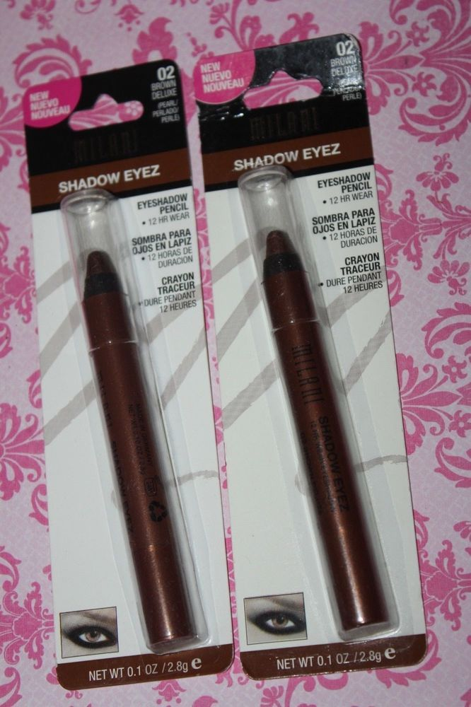 LOT OF 2 Milani Shadow Eyez Eyeshadow Pencil 02 Brown Deluxe SEALED / NEW  #Milani