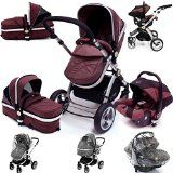 i-Safe System - Hot Chocolate Trio Travel System Pram & Luxury Stroller 3 in 1 Complete With Car Seat + Rain Covers - http://www.goskyride.co.uk/i-safe-system-hot-chocolate-trio-travel-system-pram-luxury-stroller-3-in-1-complete-with-car-seat-rain-covers/