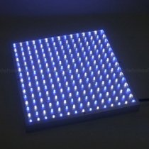 LEDwholesalers 2501W+B Blue/White 225 LED 13.8 Watt Square Grow Light Panel 110 Volt. 50% Blue + 50% WHITE 225 LED Aquarium and Grow Light Panel PRODUCT INFORMATION DESCRIPTION:Quality built 50% Blue + 50% White 225 LED Aquarium and Grow Light Panel This 12 by 12 inch LED panel has 225 super bright LEDs.