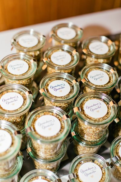 Favor Ideas: This couple supplied their guests with homemade granola for their breakfast the next day! Photo by Brooke Images on Southern Weddings