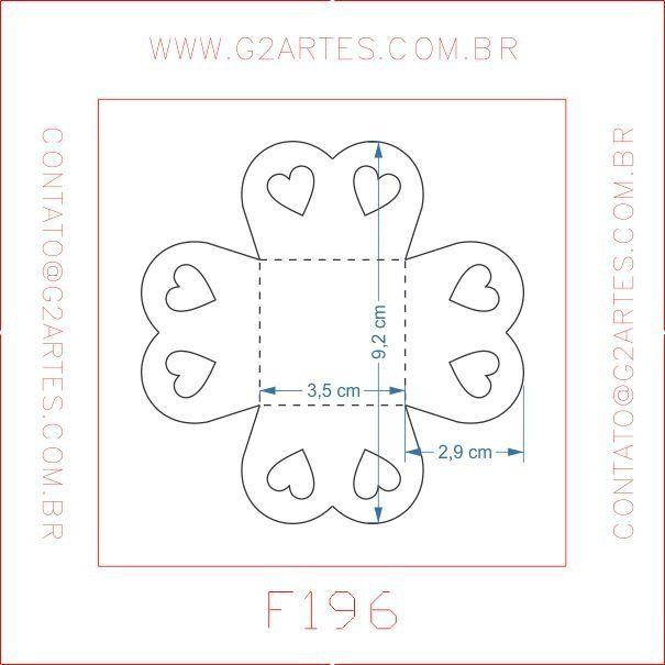 Faca Corte e Vinco - F196 - Forminha Corações - G2 Artes - Facas Corte e Vinco