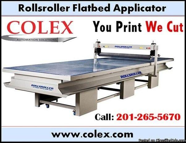 Rollsroller Flatbed Applicator Cutter 7407 Nj Call 201 265 5670 Flat Bed Cutter Adhesive Vinyl