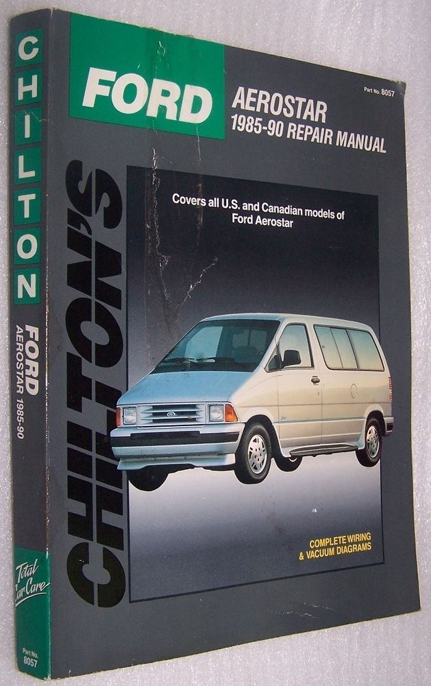 best ideas about ford aerostar ford ford chilton s ford aerostar 1985 90 repair manual 8057