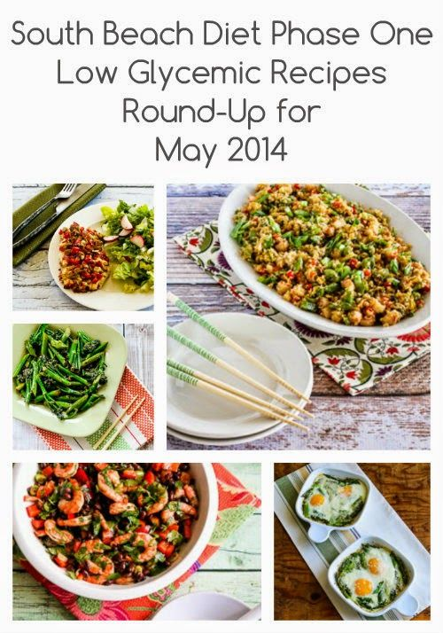 Kalyn's Kitchen®: South Beach Diet Phase One Recipes Round-up for May 2014 (and an announcement)