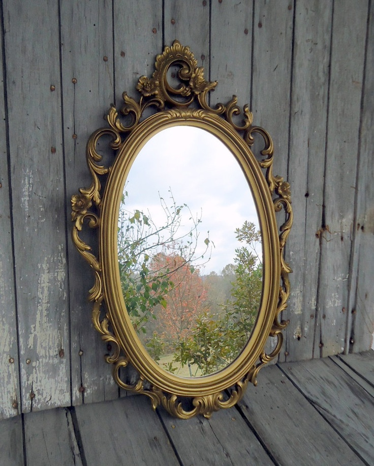 Snow White Mirror: Mirror, mirror, on the wall, who's the fairest of them all? Find out looking in this ornate oval mirror