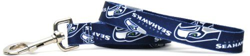 Yellow Dog Design Seattle Seahawks Licensed NFL Dog Leash, Large, 1-Inch by 60-Inch - http://www.thepuppy.org/yellow-dog-design-seattle-seahawks-licensed-nfl-dog-leash-large-1-inch-by-60-inch/