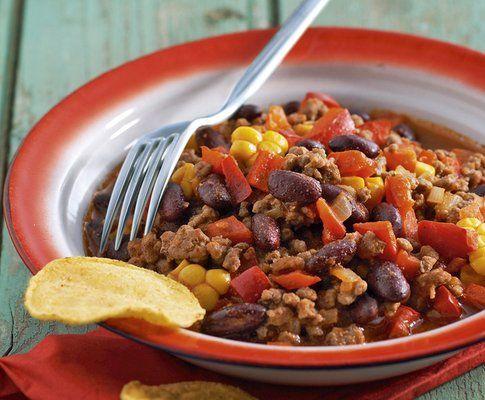 Chili con carne: io personalmente aggiungo anche altre spezie e una manciata di fagioli neri