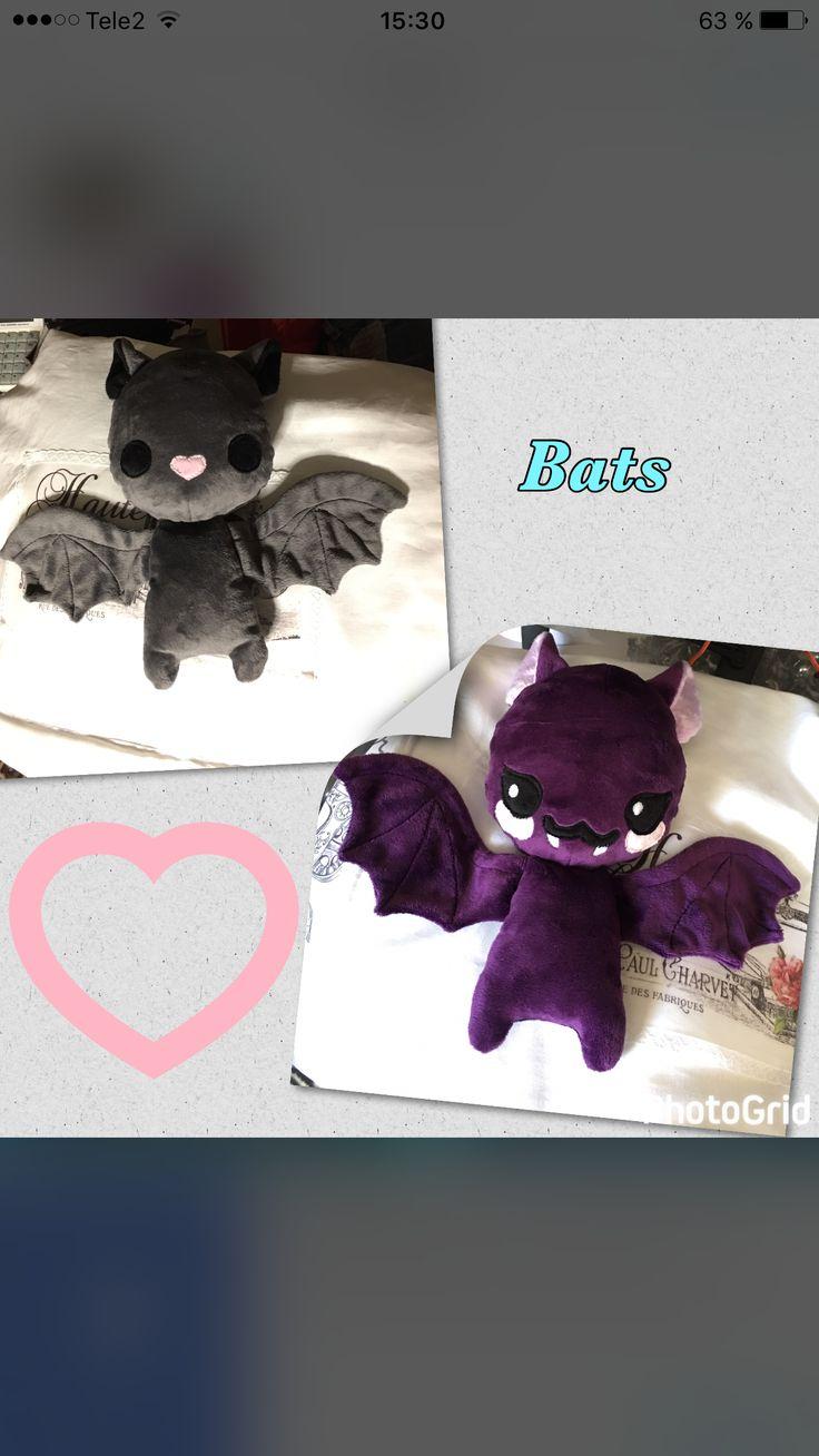Bats Fladdermöss,Minky fabric