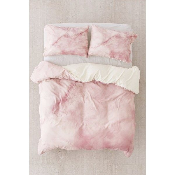 Chelsea Victoria For DENY Rose Gold Marble Duvet Cover ($149) ❤ liked on Polyvore featuring home, bed & bath, bedding, duvet covers, urban outfitters bedding and urban outfitters