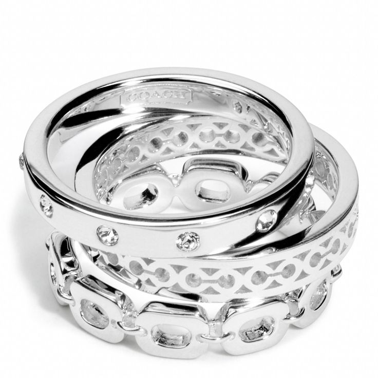LOVE these Coach stacked rings
