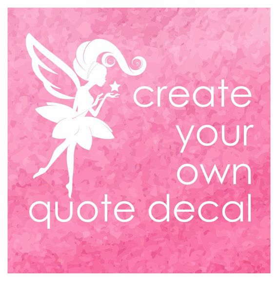 Best Fairy Dust Decals Images On Pinterest - Make your own decal for laptop