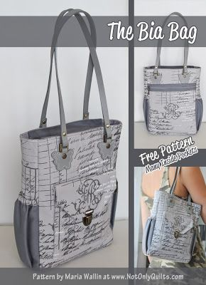 Not Only Quilts: The Bia Bag - Free PDF Pattern!