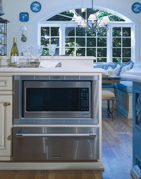 Thermador Kitchen Gallery : Under counter micro and warming drawer.  This is what you're Kitchen needs.