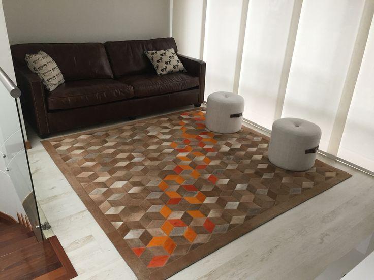 Tapete Belgium - Rug Belgium. Patchwork rug. Special Edition. Tapetes en Cuero