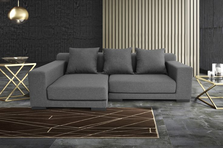 VELAGO - CANNES Fabric Sectional Sofa (R) Short Version