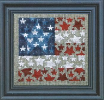 Bent Creek - Flag of Stars - Cross Stitch Kit