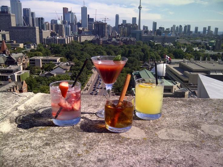 Maple Manhattan, Strawberry Fizz, Basil Martini & Kentucky Smoked Lemonade. Cheers, Toronto!