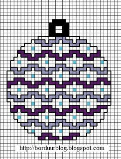Borduurpatroon - kerst, kerstbal