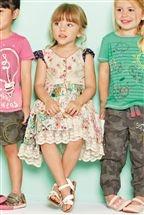 Mixed Print Patch Dress (3mths–6yrs)