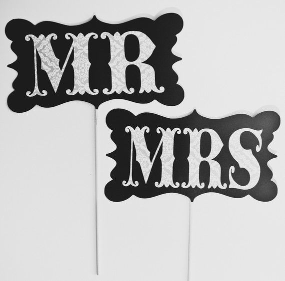 Mr. & Mrs. Photo Booth Props!