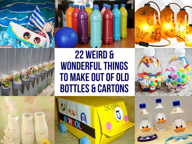 22 Weird & Wonderful Things To Make Out Of Old Bottles & Cartons