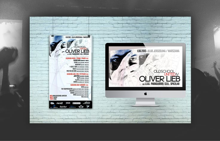Visual identity for our event in Warsaw where we hosted the legend of the electronic music scene - Oliver Lieb!