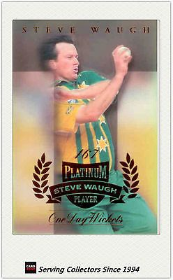 Cricket Cards 25579: 1996 97 Futera Cricket Decider 1St Day Steve Waugh Platnum Sw2-One Day Wickets -> BUY IT NOW ONLY: $95 on eBay!