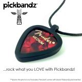Epic Black Pickbandz® Guitar Pick Holder Pick Necklace  ...just pop in your custom guitar picks and Rock On!