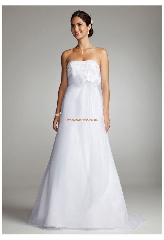 Robe de mariée blanche organza broderie