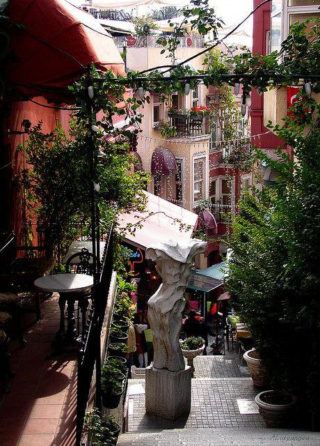 visitheworld:    French street in Istanbul, Turkey (by Anastassiya Lukyanova).