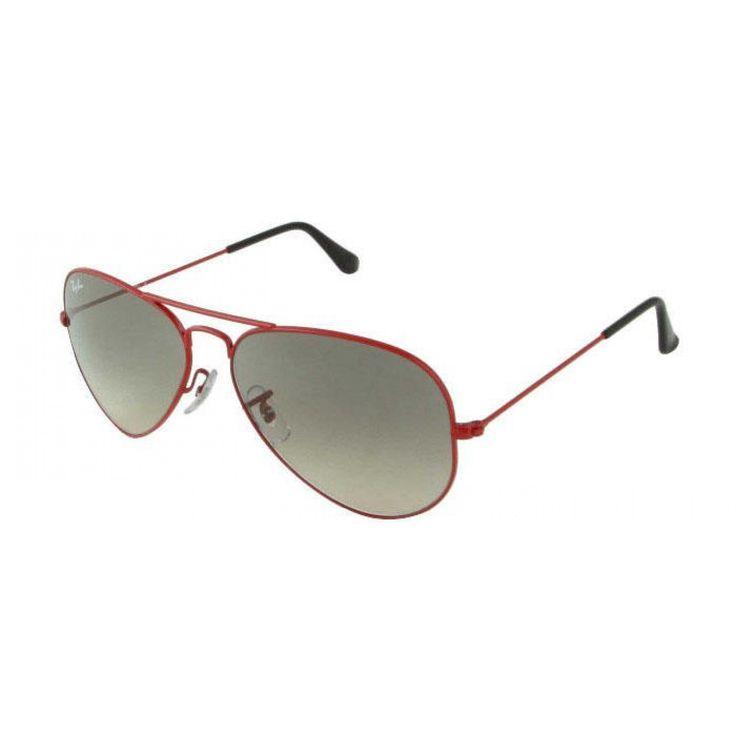 Red Ray-Ban RB3025 Aviator Sunglasses