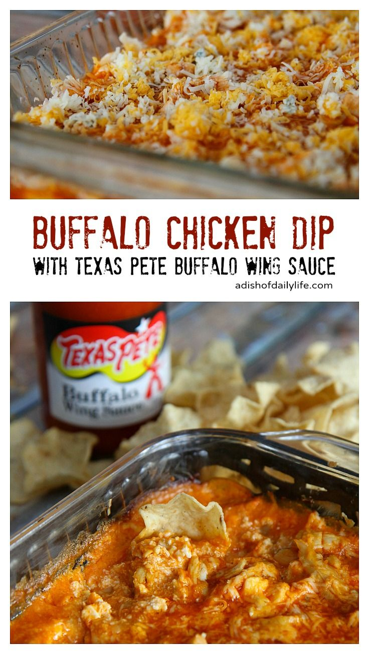 This Buffalo Chicken Dip With Texas Pete Buffalo Wing Sauce Is The