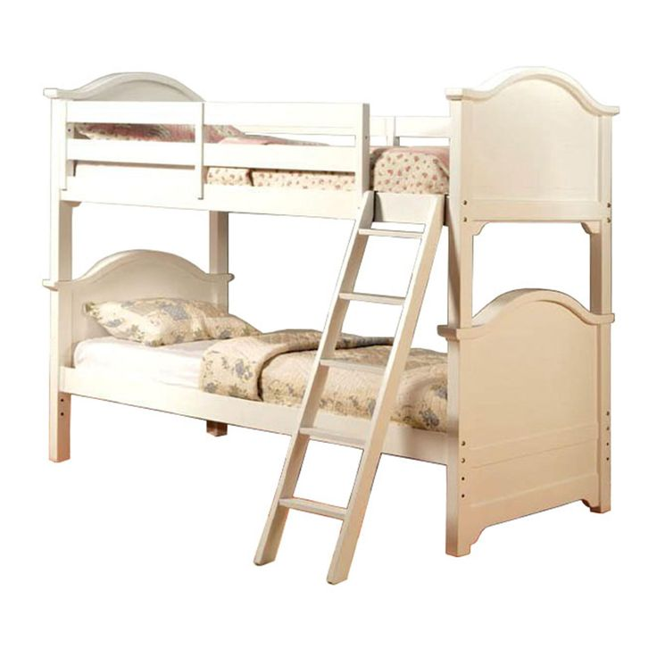 ($630 at Sears) Venetian Worldwide Chesapeake Twin-over-Twin Bunk Bed, White - Furniture  Mattresses - Bedroom Furniture - Beds