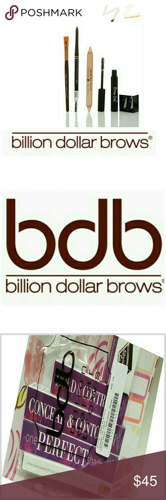 JUST IN BILLION DOLLAR BROWS  (TAUPE) Universal Brow Pencil  Brow Duo Pencil  Brow GEL Smudge Brush Sharpener Billion Dollar Brows Makeup
