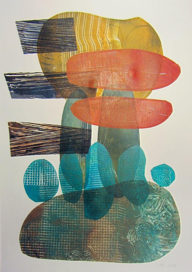 Michèle Brown Artist - The Old Cells Studio: gelli plate