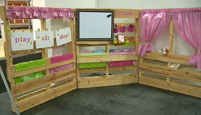 Things to make out of pallets erin s amazing kids play for How to make stuff out of wooden pallets
