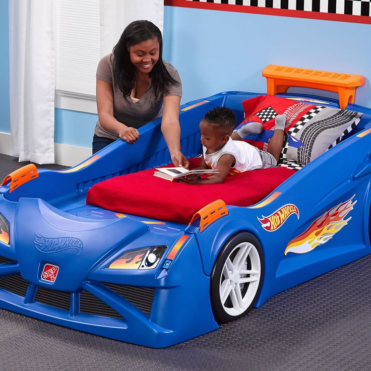 This kid's car bed will make the transition from a crib