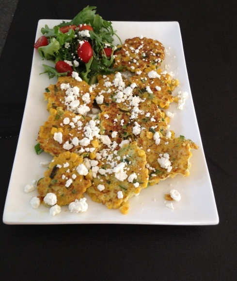 Corn Cakes with Goat Cheese | Recipes | Pinterest