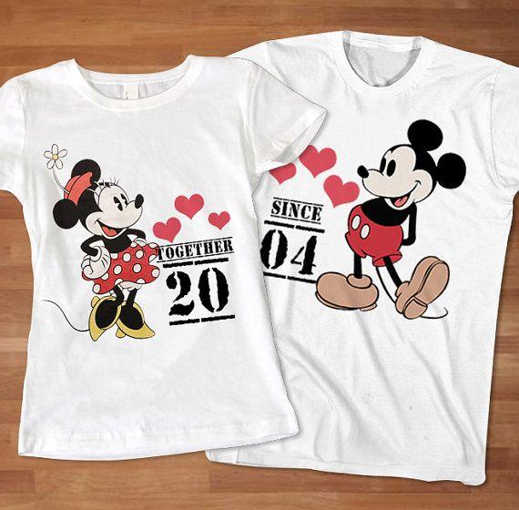 Love mickey minnie couple tshirt custom tshirt by for Custom t shirt sayings
