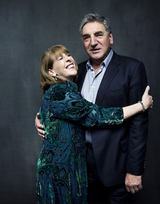 Downton Abbey's Phyllis Logan (Mrs. Hughes) and Jim Carter (Mr. Carson) December 8, 2015..