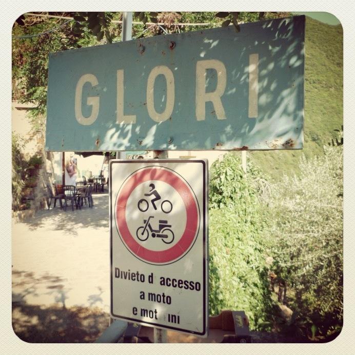 The road to Glori Liguria