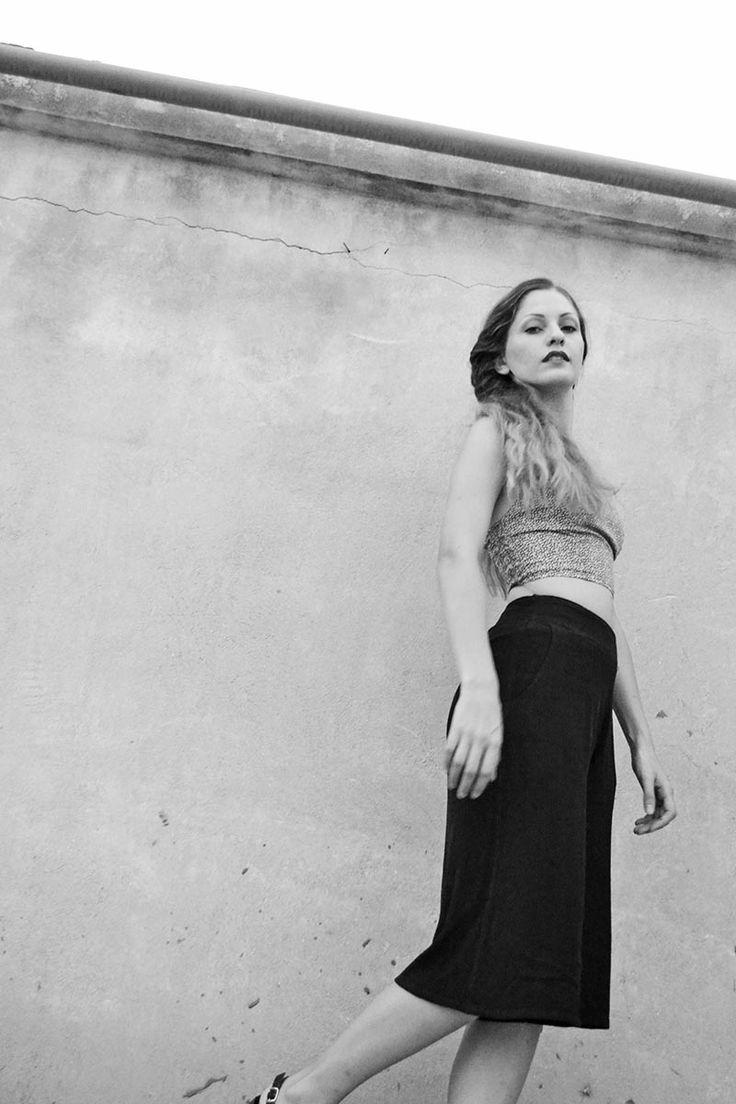 Vintage Film Noir Inspired Outfit - Bustier&Jupe Cultotte Street Style BADILA Spring-Summer '15