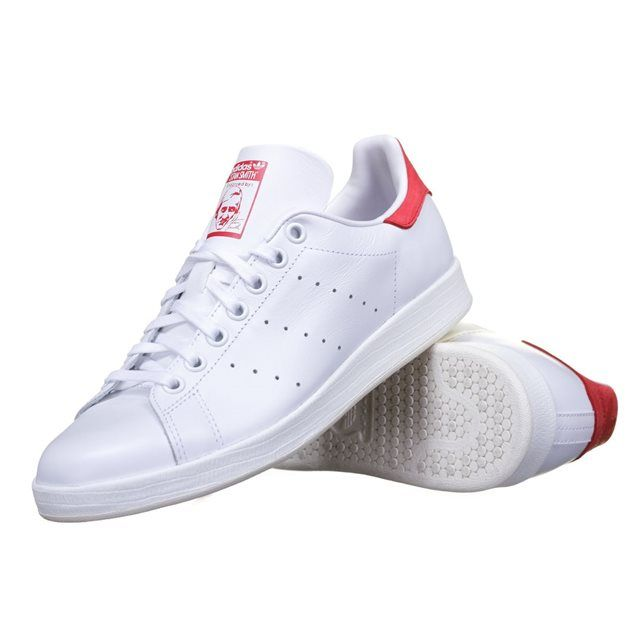 Chaussure Adidas Stan Smith Luxe W Af6750 Blanc/Rouge ADIDAS