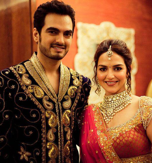 Bharat Takhtani and Esha Deol (photo courtesy Wedding Sutra)