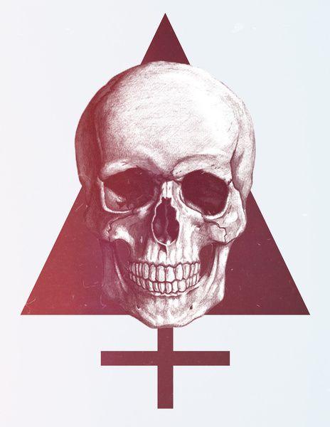 Skull art print / LAZERFACTOR