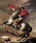 Napoleon at the St. Bernard Pass 1801  by Jacques Louis David