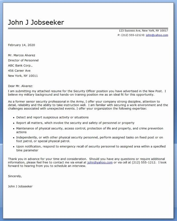Security Officer Cover Letter Sample Inspirational Security Ficer Cover Letter Writing Lesson Plans Education Quotes Teaching Cover Letter Security officer cover letters